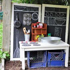 Spielgeräte Draussen Tafel Küche