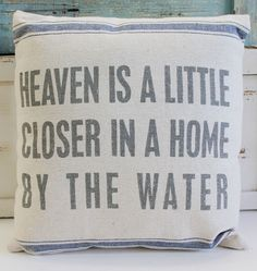 Heaven is a Little Closer Throw Pillow - Beach Chic Cottage Home Decor - California Seashell Company
