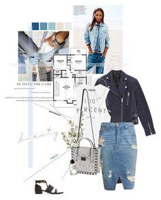 """Style essential: Denim skirt."" by sarahstardom ❤ liked on Polyvore"