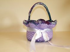 Crochet Baby Basket Tulip Inspired Spring by CottageCoveCrochet, $25.00