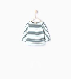 JWM - stripes, always stripes!  Zara Organic cotton striped T-shirt