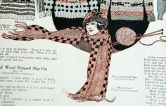 Crocheted Scarf & Hat Pattern from turn-of-the 20th century