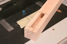 Woodworkers Journal : Portable Power Tool Projects : Mortising on a Router Table