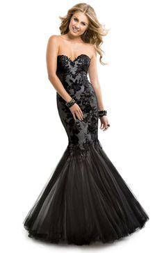 Tulle Dress with lace appliques   Flirt #flirtprom #prom #dress #lbd