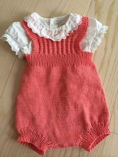 Ravelry: Project Gallery For Kor - Diy Crafts - hadido Knitted Baby Clothes, Knitted Romper, Knitting For Charity, Knitting For Kids, Baby Girl Patterns, Baby Knitting Patterns, Easy Crochet Hat, Crochet Baby, Tricot Baby