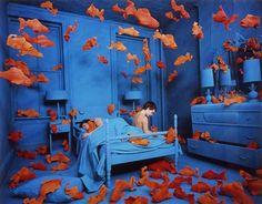 Revenge of the Goldfish by Sandy Skogland.  I love installation art.