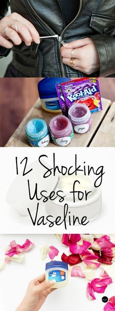 How to Use Vaseline, Uses for Vaseline, How to Use Vaseline, Easy Ways to Use Vaseline, Popular Pin, Life Hacks, Beauty Hacks, Unique Ways to Use Vaseline.