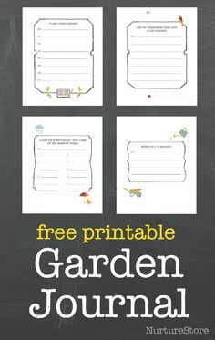 Free garden journal printable - so pretty! Ideas for nature study, math, science, creative writing, sensory activities and journalling with kids.