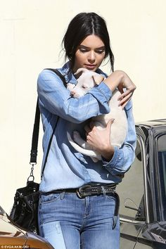 Home sweet home: Kendall has been enjoying a more relaxed schedule back in Los Angeles the last couple days, grabbing lunch with gal pal and fellow supermodel Gigi Hadid on Saturday