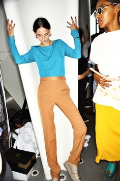 Backstage at the Paul Smith Women's Spring/Summer '16 Show