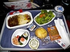 This mishmash of cuisines comes courtesy of an American Airlines flight from New York to T...