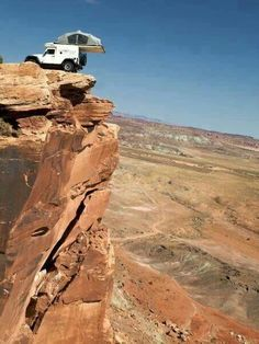 On the edge   what am i doin putting ideas into your already too active offroading head PU LEASE DONT try this at home