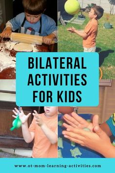 Use these simple bilateral integration activities to boost your child's coordination skills! Cerebral Palsy Activities, Occupational Therapy Activities, Pediatric Occupational Therapy, Motor Skills Activities, Movement Activities, Pediatric Ot, Autism Activities, Sensory Activities, Educational Activities