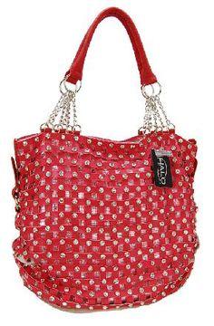 Caroline Studded Shoulder Bag (coral) - FREE SHIPPING