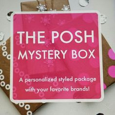 ? Mystery Surprise Box ? Another Posh Mystery Box an excellent way to give an added discount to my followers who like my style and items.  My sizes run xs-s, 0-2, and shoe size 7. Guaranteed that what you receive will be worth way more than what you pay. So let's have some fun and let me make your Mystery surprise box! Other