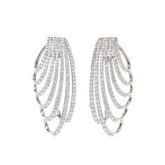 Princess Cascade Earrings, Stunning on your ear! Diamond Jewelry, Silver Jewelry, Luxury Fashion, Princess, Bracelets, Earrings, Beautiful, Style, Charm Bracelets