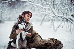 """""""Every true love and friendship is a story of unexpected transformation. If we are the same person before and after we loved, that means we haven't loved enough."""" ― Elif Shafak, The Forty Rules of Love Dragon Age Characters, Wolves And Women, Snow Girl, Snow Dogs, Wolf Girl, Winter Photos, Character Aesthetic, Amazing Photography, Photography Ideas"""