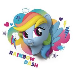 BLOG DOS BRINQUEDOS: My Little Pony Rainbow Dash 3D Light