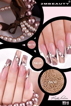 2mbeauty nail decoration with buion Tiny metallic nail art beads with new, excellent color retention.