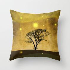 Lone tree II Throw Pillow by Viviana González - $20.00