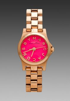 Marc by Marc Jacobs Henry Dinky Watch in Rose Gold/Knockout Pink