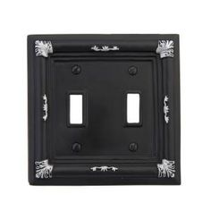 Lowes Wall Plates Shop Montage Filigree 2Gang Standard Toggle Wall Plate At Lowe's