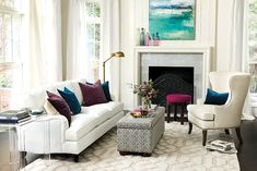 Living room with Ballard Designs furniture