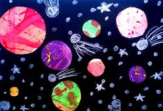 Lessons from the Art Room: Sixth Grade Solar Systems Primary School Art, Middle School Art, Elementary Art, 6th Grade Art, Sixth Grade, Solar System Projects, Systems Art, Art Classroom, Science Classroom