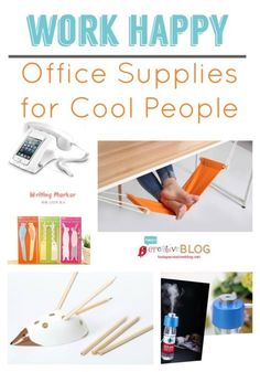 Work Happy! Office Supplies for Cool People | TodaysCreativeBlog.net