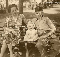 Grandma, Dad, Terry, 1942