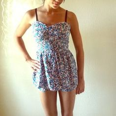I just added this to my closet on Poshmark: FLORAL DRESS OVER ROMPER. Price: $12 Size: M