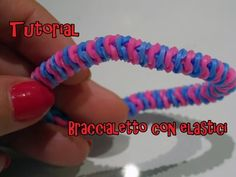 DIY Braccialetto con elastici Rainbow Loom (senza telaio)