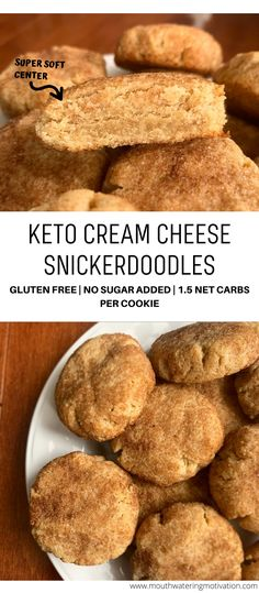These keto cream cheese snickerdoodles are super soft in the middle with a slight browning to the outside Rolled in a delicious sweet sugary coating Super easy to make ketocookies lowcarbcookies ketosnickerdoodles lowcarbsnickerdoodles Keto Foods, Ketogenic Recipes, Keto Snacks, Ketogenic Diet, Dukan Diet, Diabetic Snacks, Keto Sweet Snacks, Low Carb Sweets, Low Carb Desserts