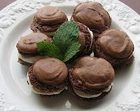 French Chocolate Macarons with Vanilla Spiced Pear Buttercream