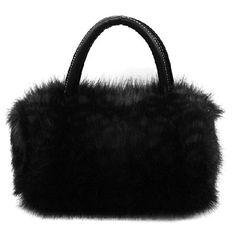 $6.34 Cute Fur Embellished and Zipper Design Handbag For Female