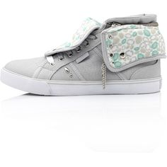 Pastry Sneakers Sugar Rush Grey ($59) ❤ liked on Polyvore