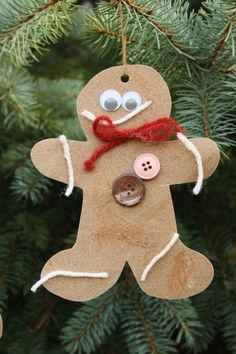 Awesome - scented sandpaper gingerbread ornaments