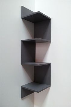 The Most Disregarded Answer for Space-Saving Corner Shelf Design Ideas - Corner wall shelves - Corner Shelf Design, Diy Corner Shelf, Corner Wall Shelves, Wall Shelves Design, Diy Shelving, Room Shelves, Diy Furniture, Furniture Design, Furniture Plans