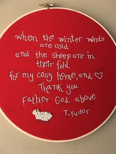 Tudor quote embroidery by daisyeyes, via Flickr