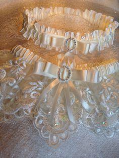 "The "" Juliette "" Cream Garter Set. Free shipping worldwide. Wedding Garters of distinction. https://www.etsy.com/listing/200585316/the-juliette-cream-garter-set?ref=shop_home_active_17"