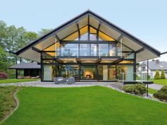 Modern House { didn't find any info for house designer/arch, but looks like HUF HAUS out of German, they do great stuff. A few are in the states now.}