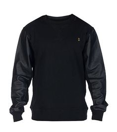 AURA GOLD DETROIT ZIPPER SLEEVE CREW SWEATSHIRT-w5bV783o