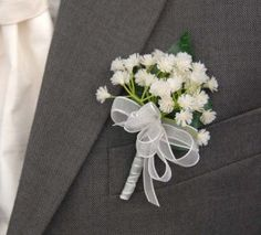 gypsophila babies breath buttonhole