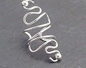 Sterling Silver Ear cuff  - VERY EXTRAVAGANT - Handcrafted 925 Earcuff