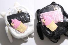 WEGO Furry Cat 'Ita-bag' Clear Flap Backpack