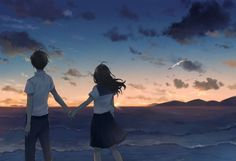 Find images and videos about couple on We Heart It - the app to get lost in what you love. Cute Couple Art, Anime Love Couple, Couple Cartoon, Cute Anime Couples, Anime Cupples, Anime Guys, 2560x1440 Wallpaper, Desenhos Love, Anime Scenery Wallpaper