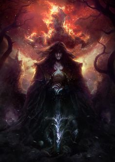 And this one makes me think of Salvatore playing with his sorcery...  (Artwork: Castlevania lords of shadow)