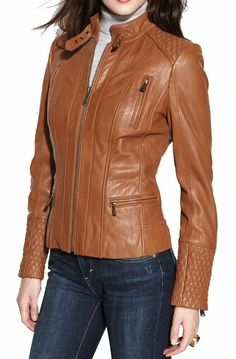 2509a00be3b Women s SWORD Genuine Lambskin Leather Biker Jacket- XS-S-M-L-XL-2XL-