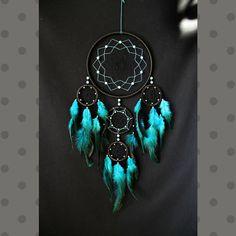 Dreamcatcher Dream catcher black & turquoise color large
