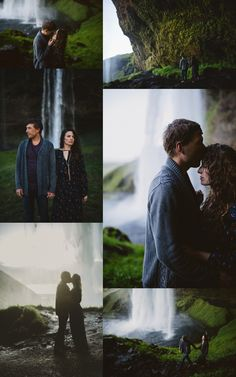 Iceland Engagement Photos - Seljalandsfoss Waterfall - Charis Rowland Photography - Destination Wedding and Elopement Photographer